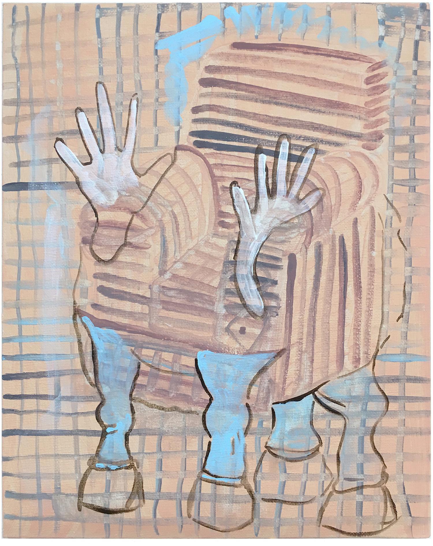 Nina-Tobien-comic-pattern-figure-decomposed-composed-armchair-skincolor-hooves-modern-mythology-fantasy